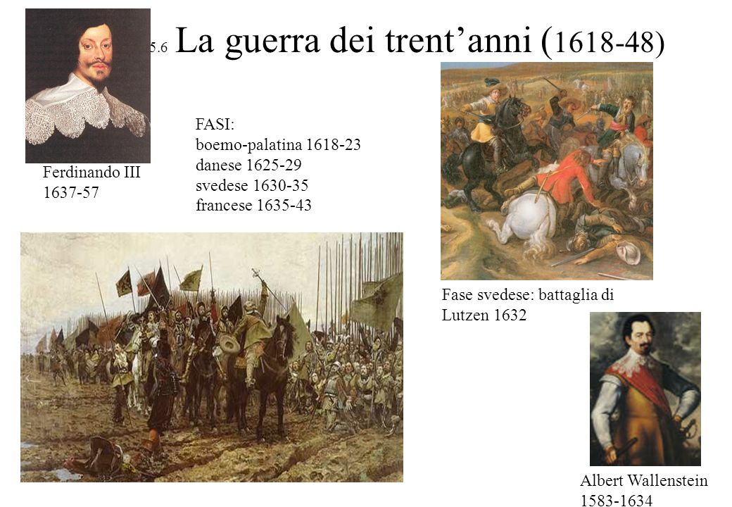 5.6 La guerra dei trent'anni (1618-48)