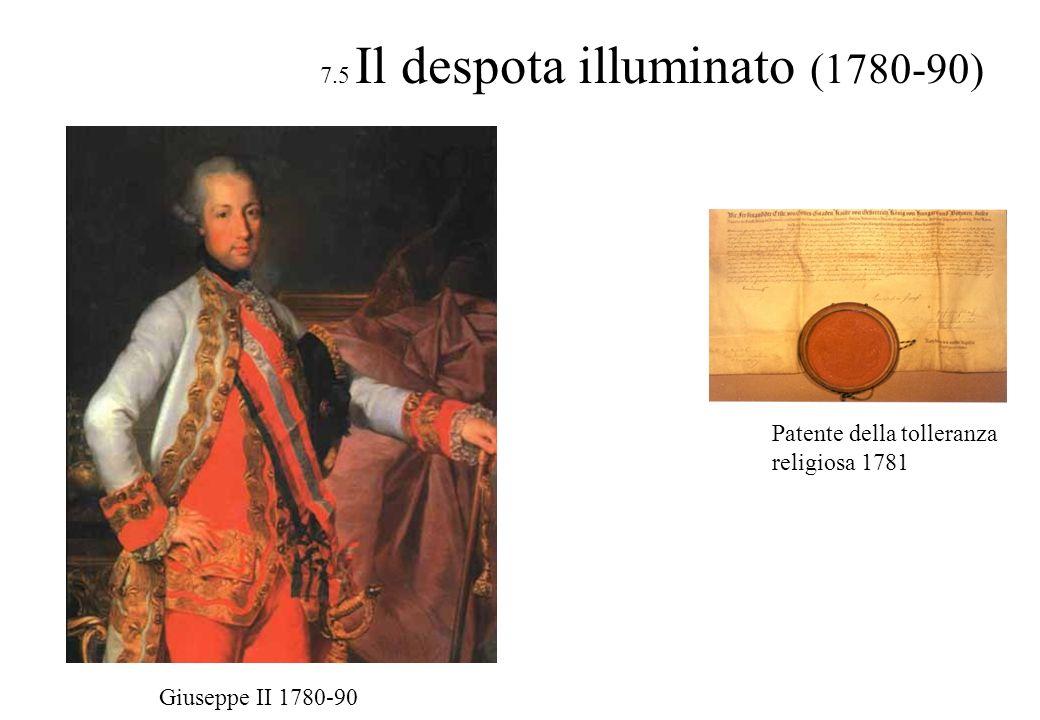 7.5 Il despota illuminato (1780-90)