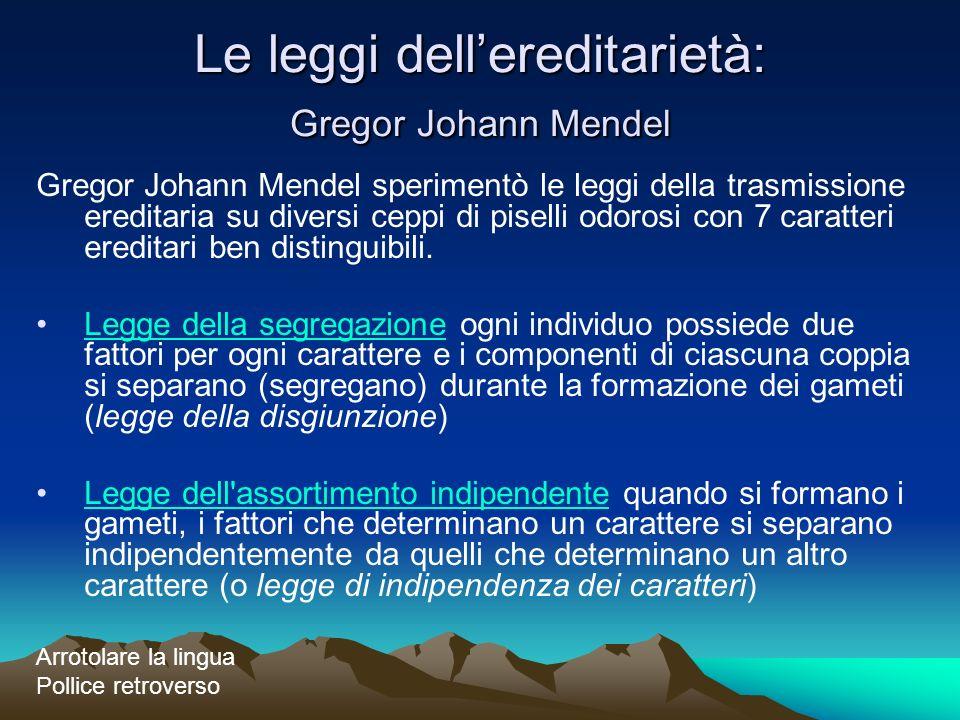 Le leggi dell'ereditarietà: Gregor Johann Mendel