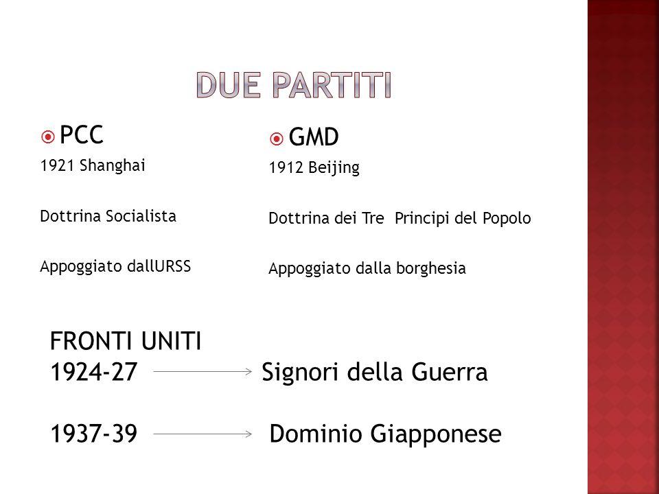 Due partiti PCC GMD FRONTI UNITI 1924-27 Signori della Guerra