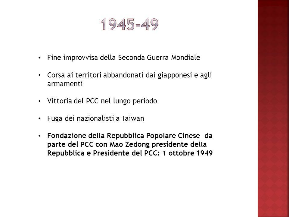 1945-49 Fine improvvisa della Seconda Guerra Mondiale