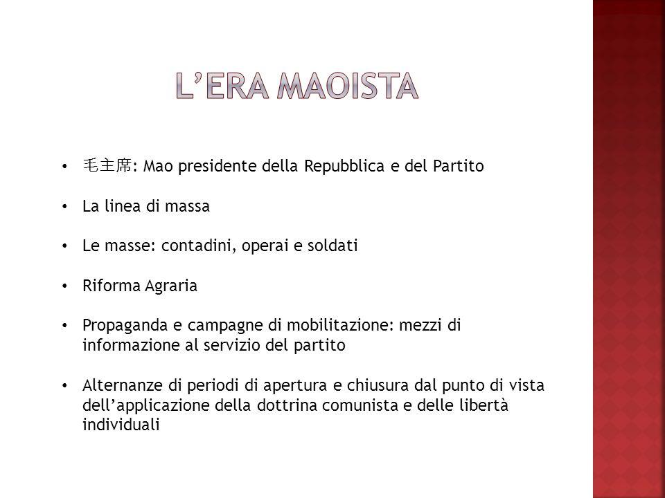 L'era maoista 毛主席: Mao presidente della Repubblica e del Partito
