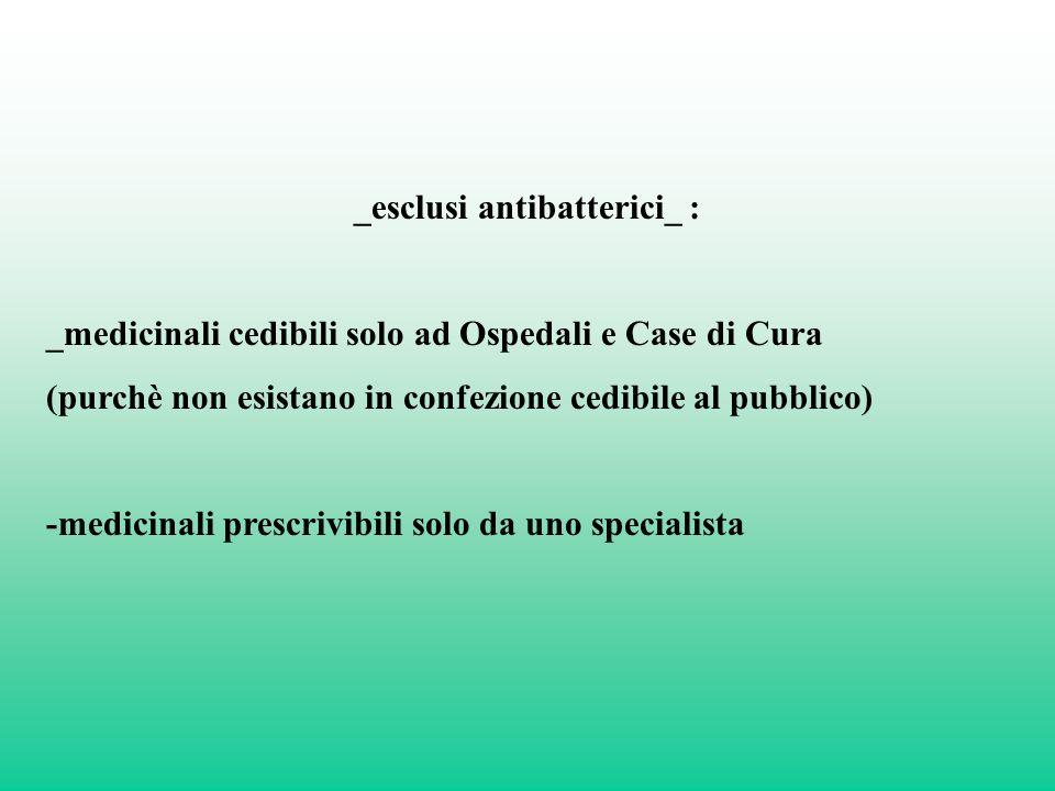 _esclusi antibatterici_ :