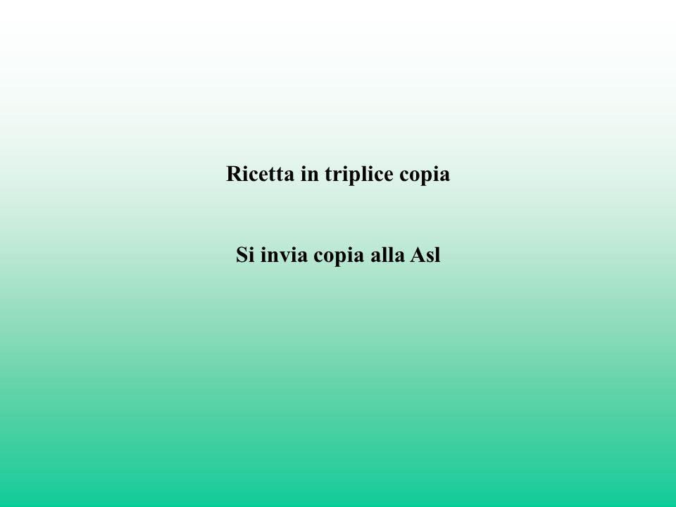 Ricetta in triplice copia