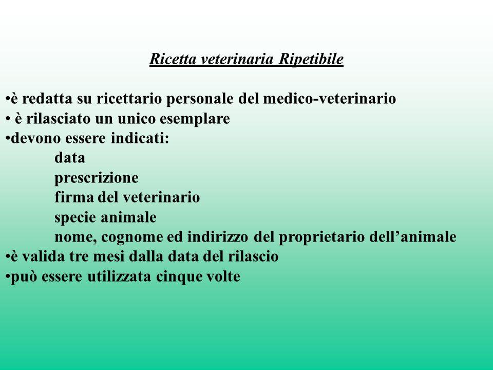 Ricetta veterinaria Ripetibile