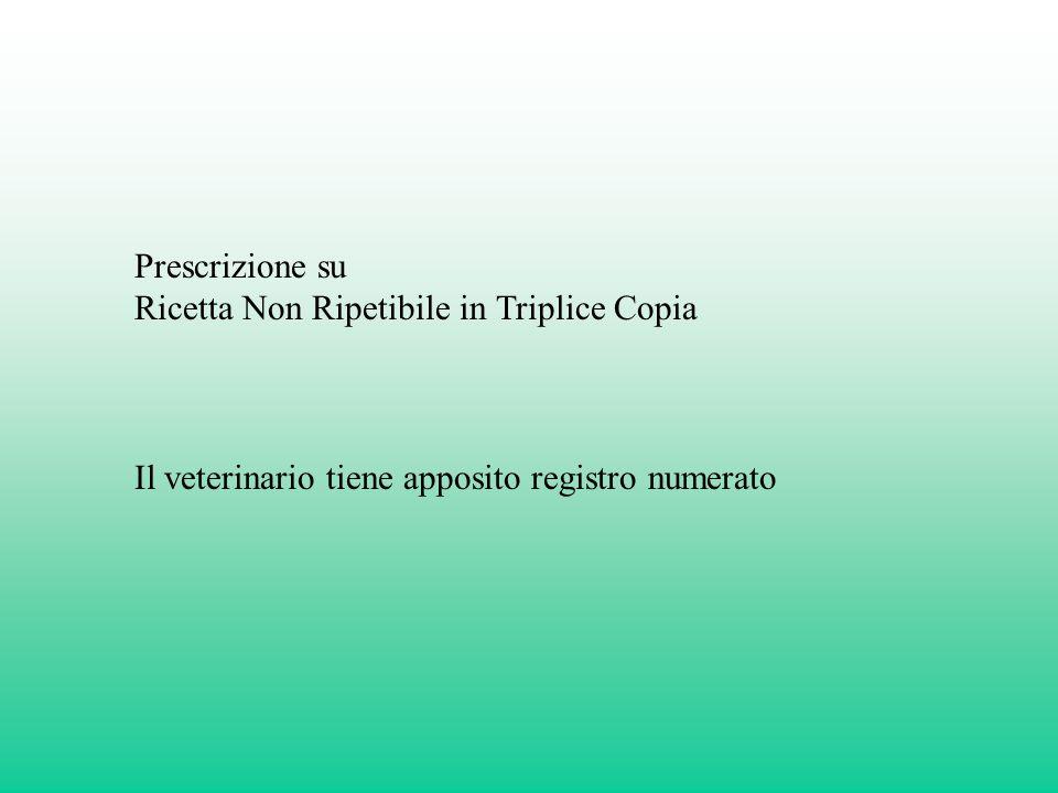 Prescrizione su Ricetta Non Ripetibile in Triplice Copia.