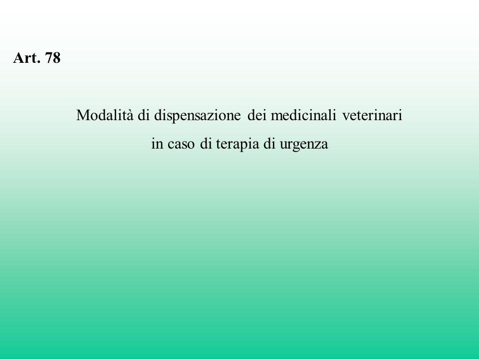Modalità di dispensazione dei medicinali veterinari