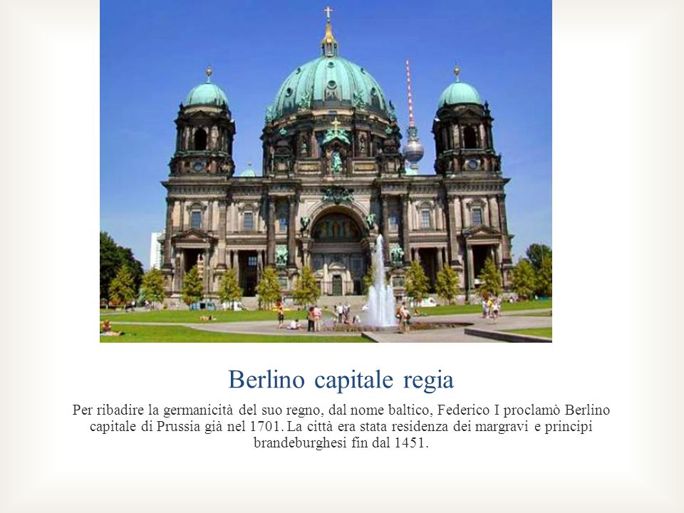 Berlino capitale regia