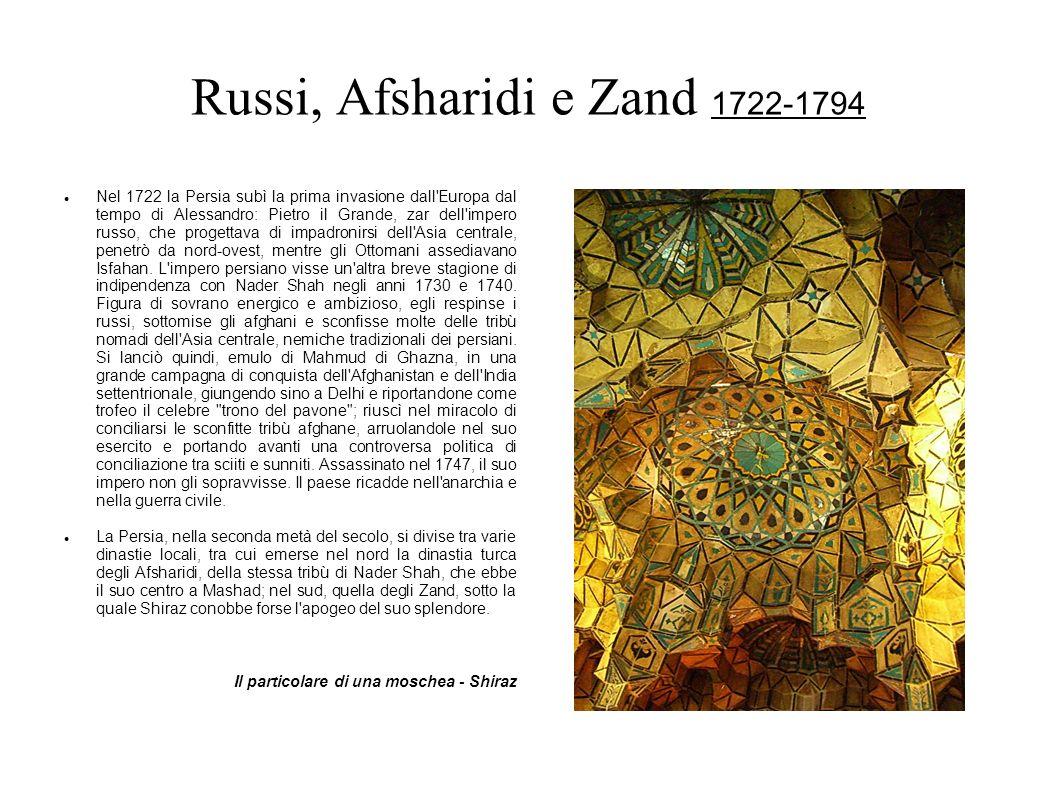 Russi, Afsharidi e Zand 1722-1794