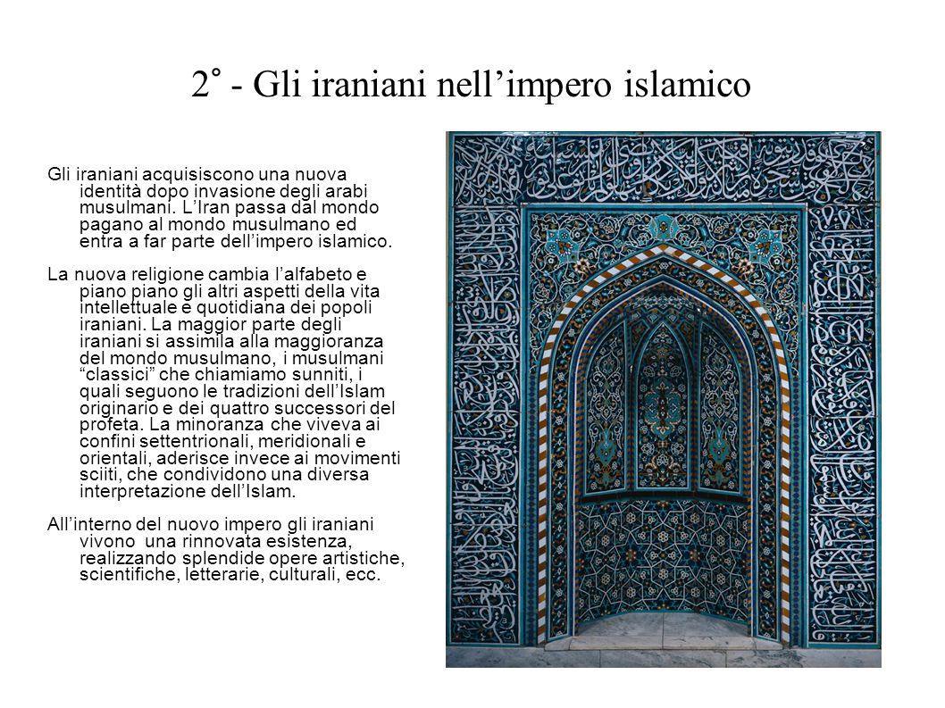 2° - Gli iraniani nell'impero islamico