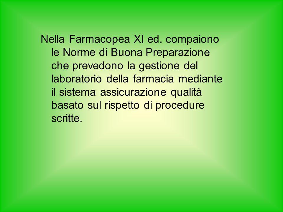 Nella Farmacopea XI ed.