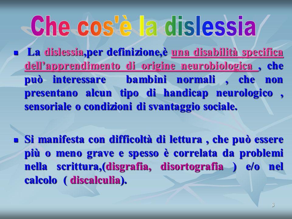 Che cos è la dislessia