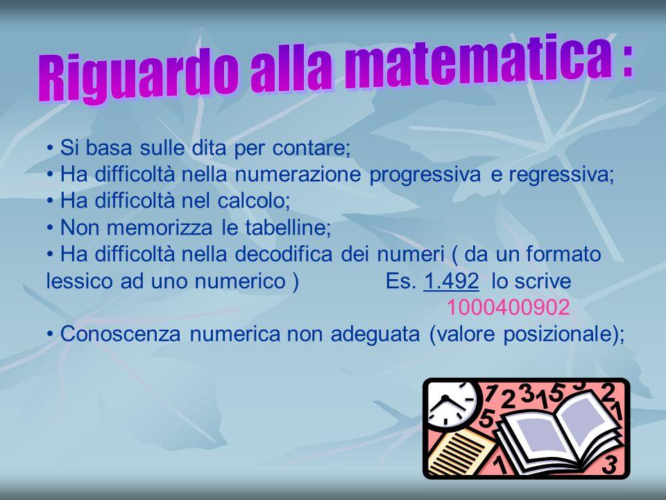 Riguardo alla matematica :