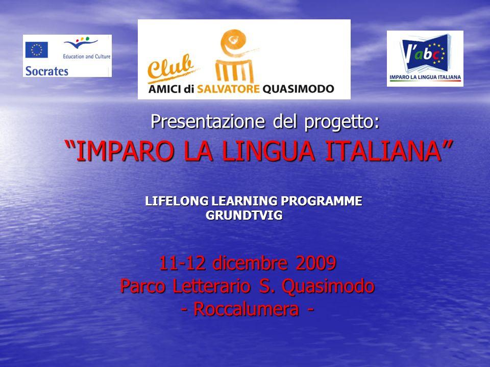 Presentazione del progetto: IMPARO LA LINGUA ITALIANA