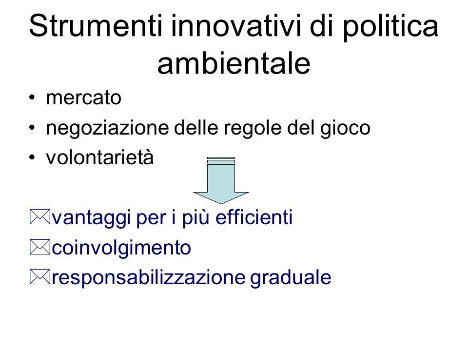 Strumenti innovativi di politica ambientale