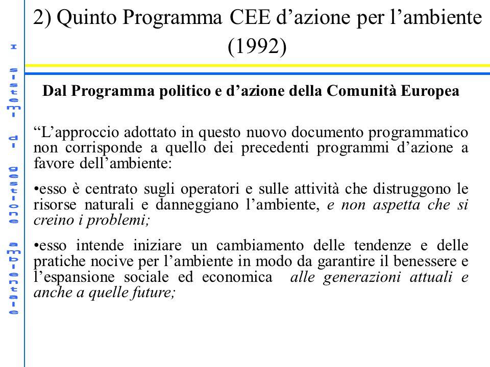 Dal Programma politico e d'azione della Comunità Europea