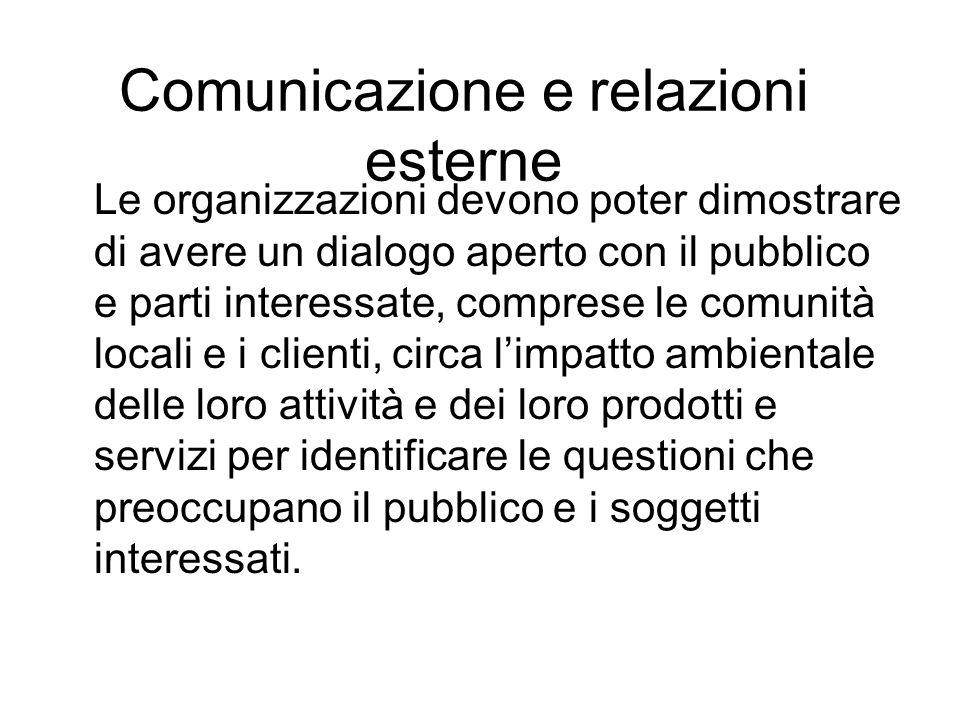 Comunicazione e relazioni esterne