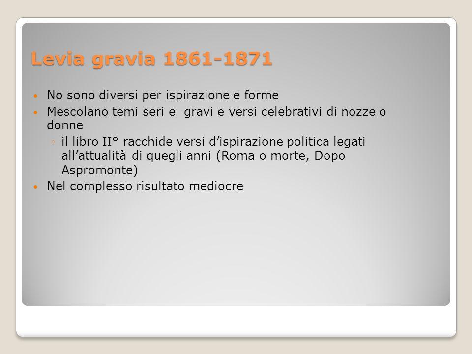 Levia gravia 1861-1871 No sono diversi per ispirazione e forme