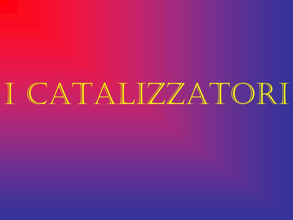 I CATALIZZATORI