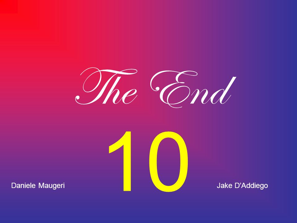 The End 10 Daniele Maugeri Jake D'Addiego