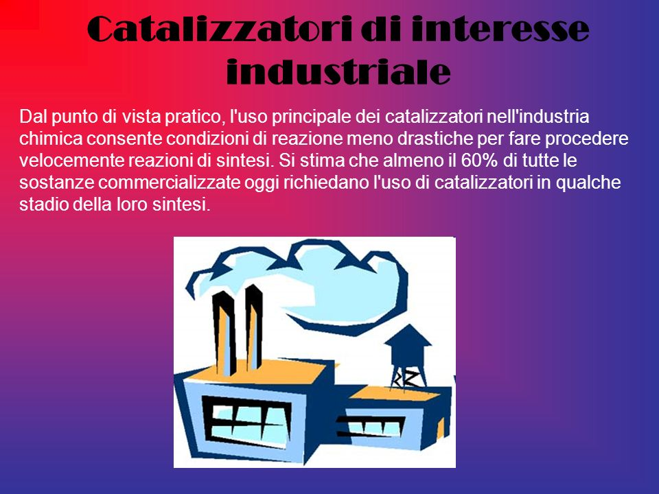 Catalizzatori di interesse industriale