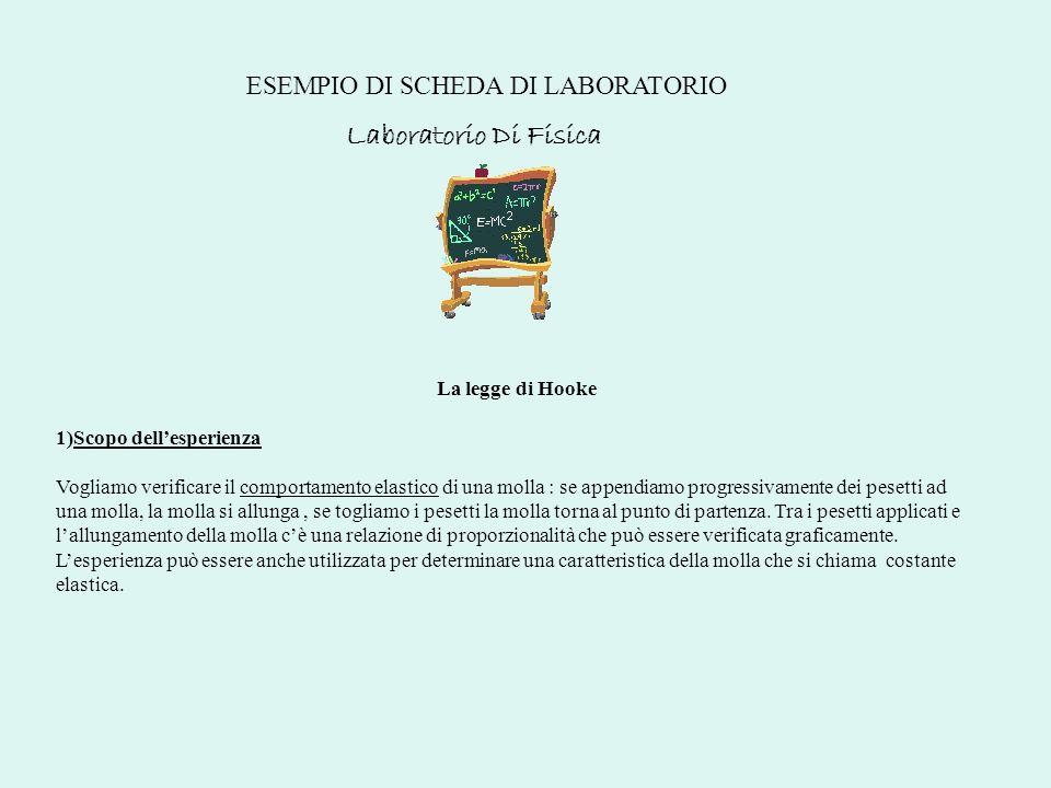 Laboratorio Di Fisica ESEMPIO DI SCHEDA DI LABORATORIO