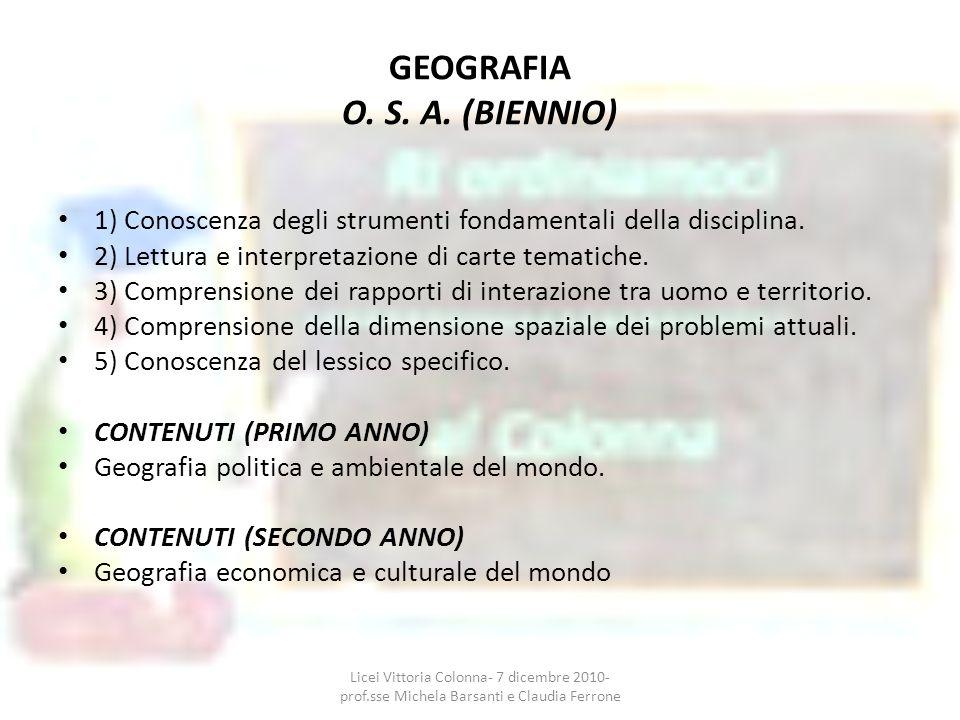 GEOGRAFIA O. S. A. (BIENNIO)
