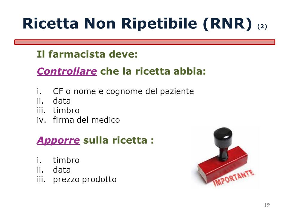 Ricetta Non Ripetibile (RNR) (2)