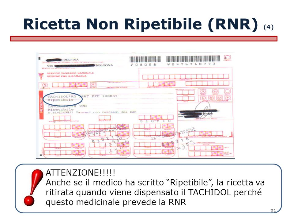 Ricetta Non Ripetibile (RNR) (4)