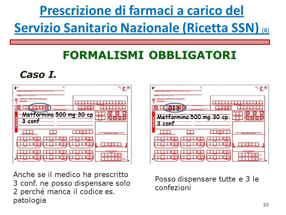 Prescrizione di farmaci a carico del