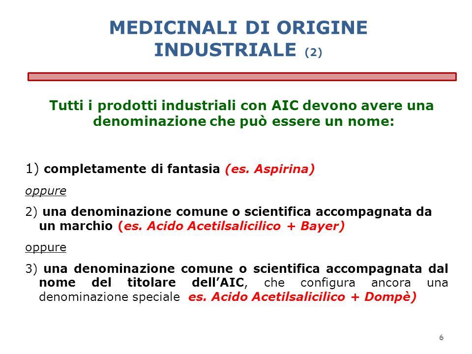 MEDICINALI DI ORIGINE INDUSTRIALE (2)