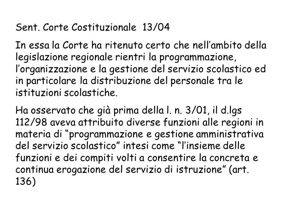 Sent. Corte Costituzionale 13/04