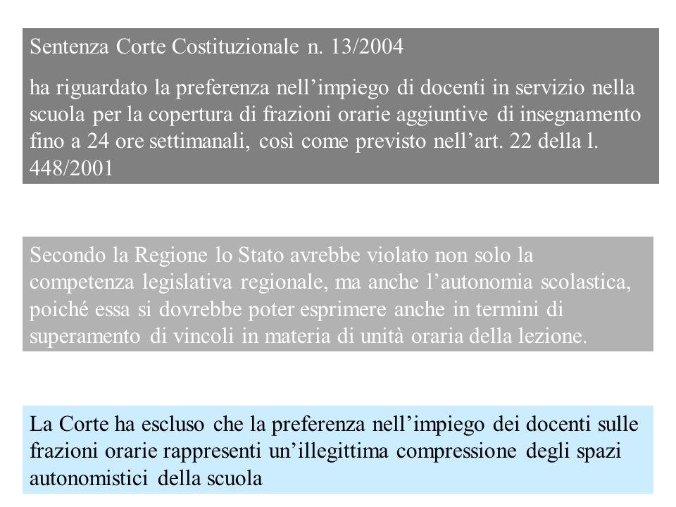 Sentenza Corte Costituzionale n. 13/2004