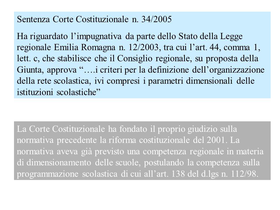 Sentenza Corte Costituzionale n. 34/2005