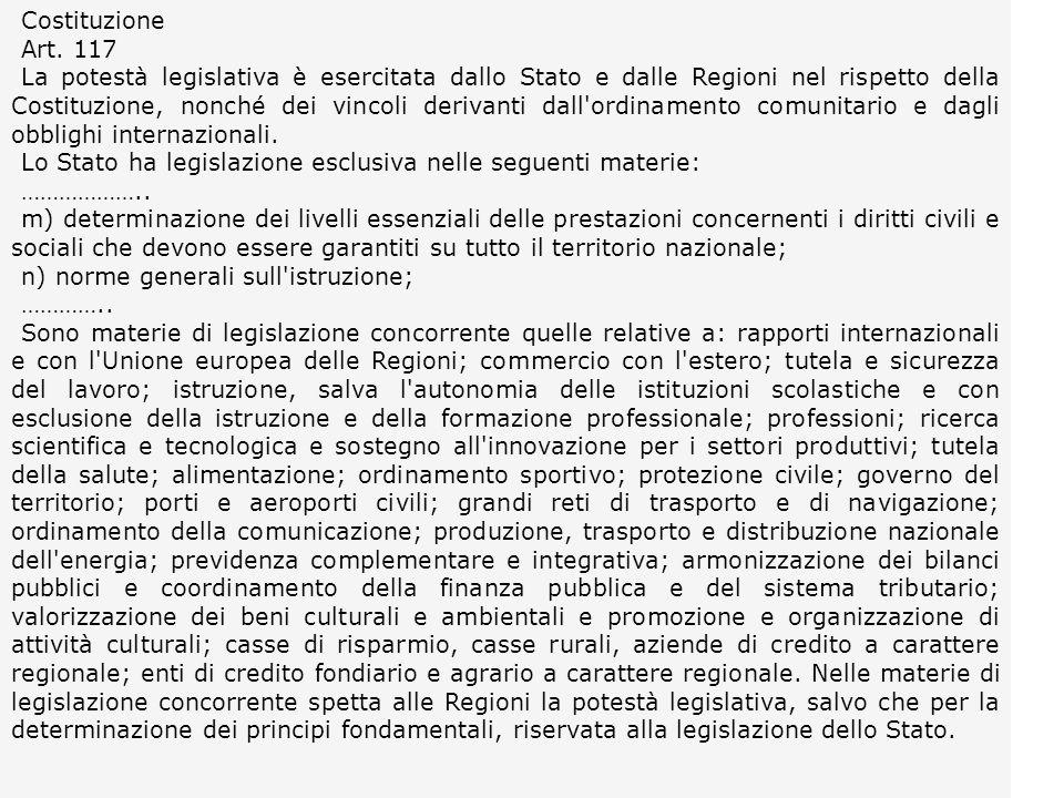 Costituzione Art. 117.