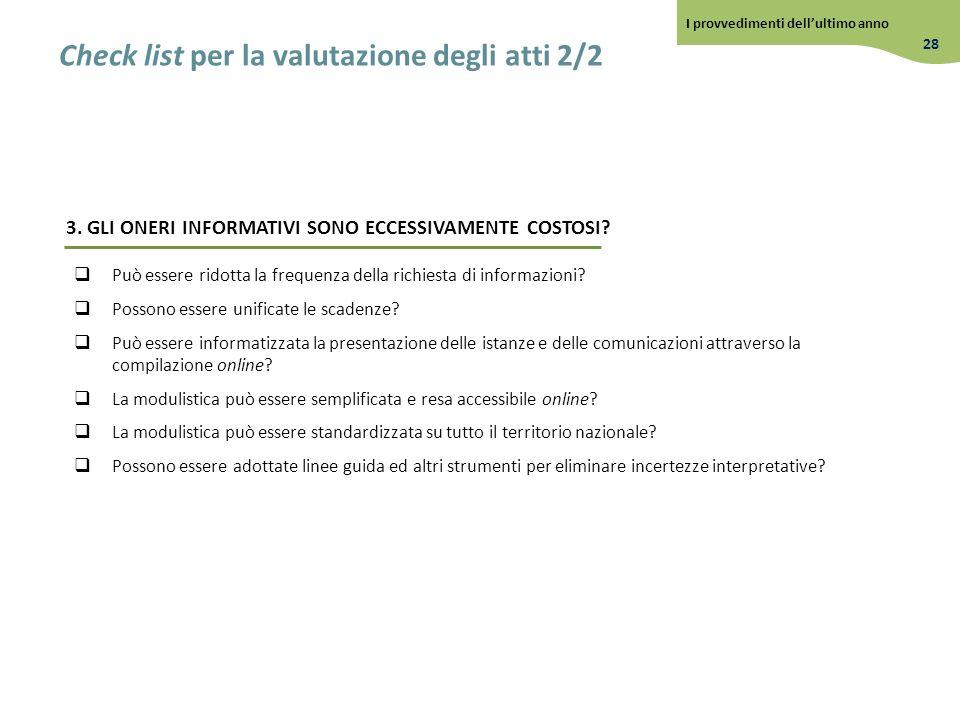 Check list per la valutazione degli atti 2/2