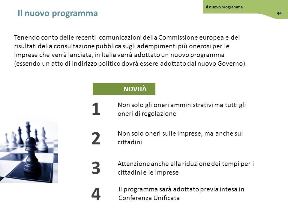 Il nuovo programma Il nuovo programma. 44.