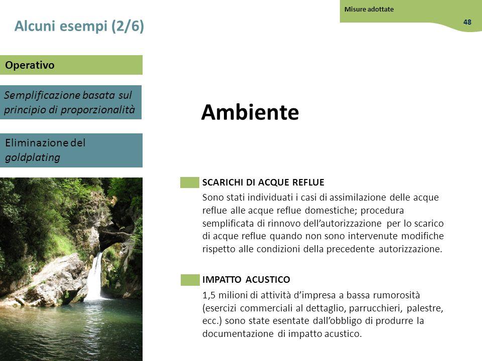 Ambiente Alcuni esempi (2/6) Operativo