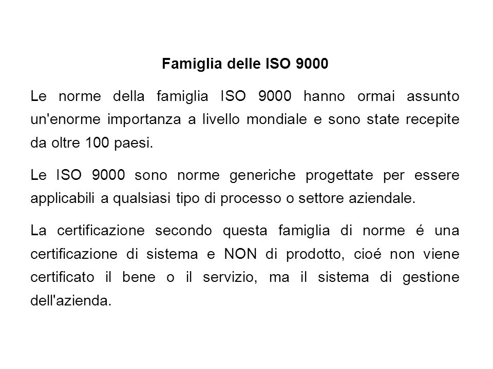 Famiglia delle ISO 9000