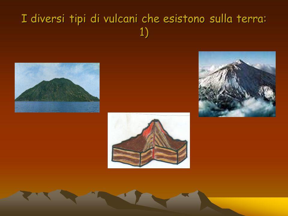 I diversi tipi di vulcani che esistono sulla terra: 1)