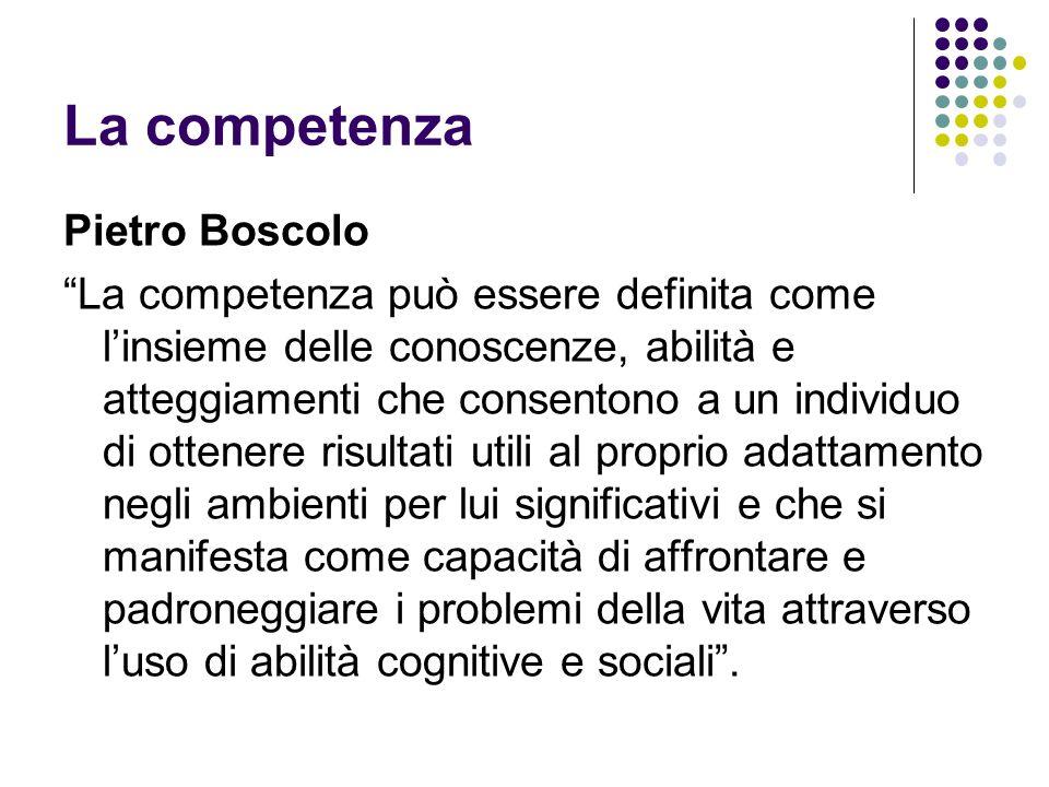 La competenza Pietro Boscolo