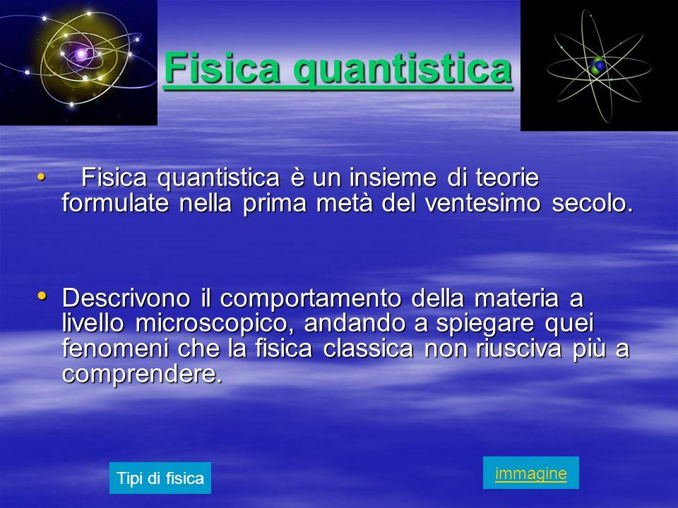 Fisica quantisticaFisica quantistica è un insieme di teorie formulate nella prima metà del ventesimo secolo.