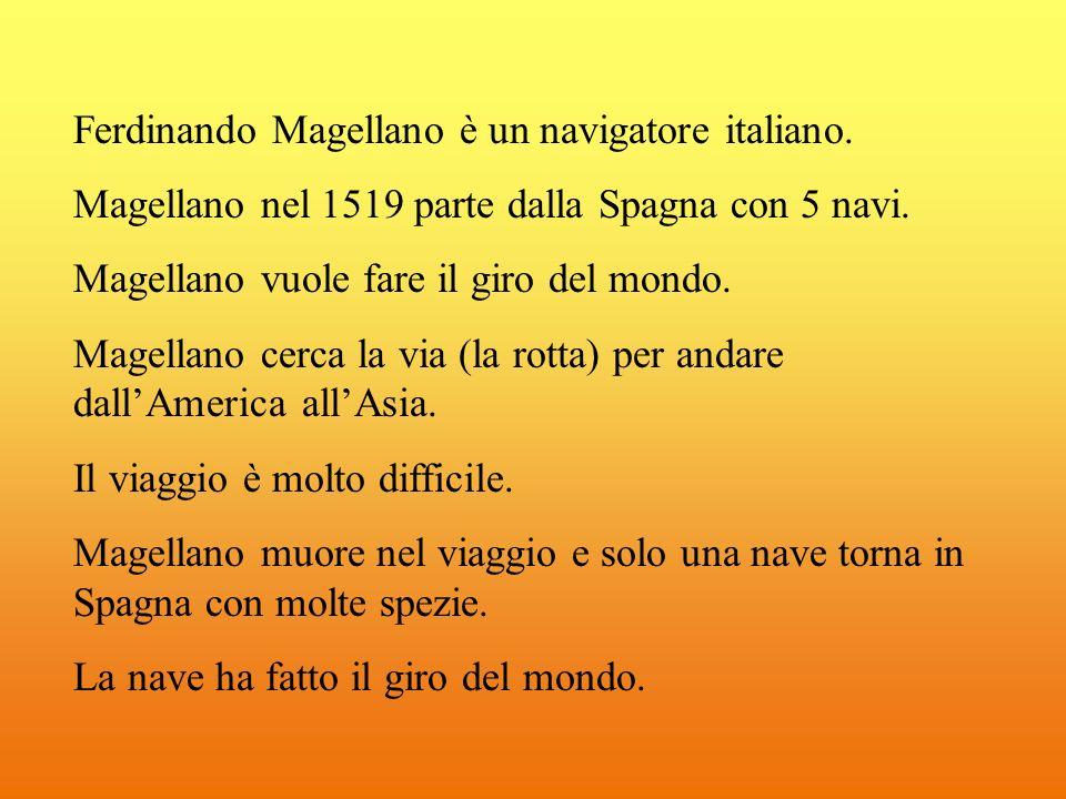 Ferdinando Magellano è un navigatore italiano.