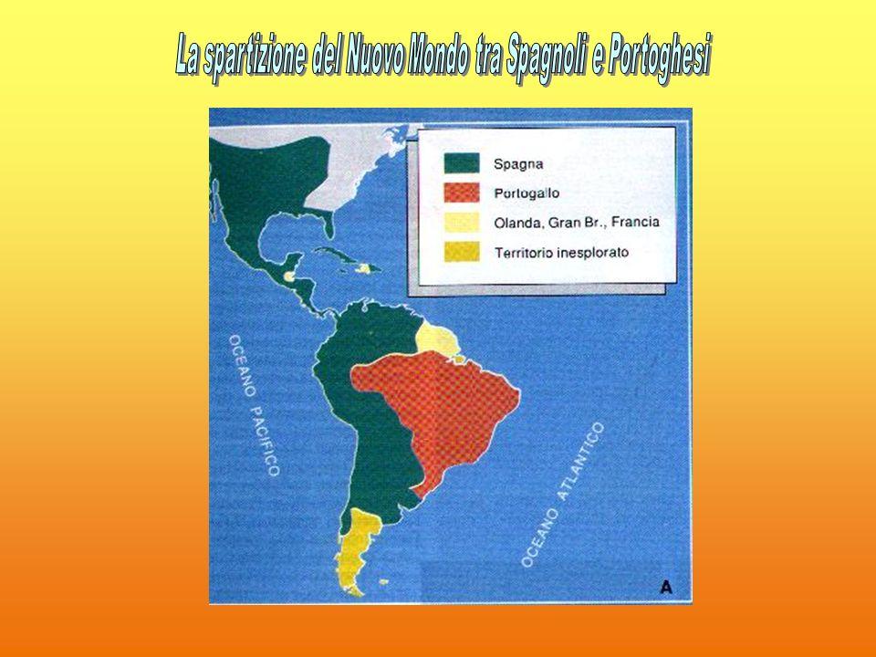 La spartizione del Nuovo Mondo tra Spagnoli e Portoghesi