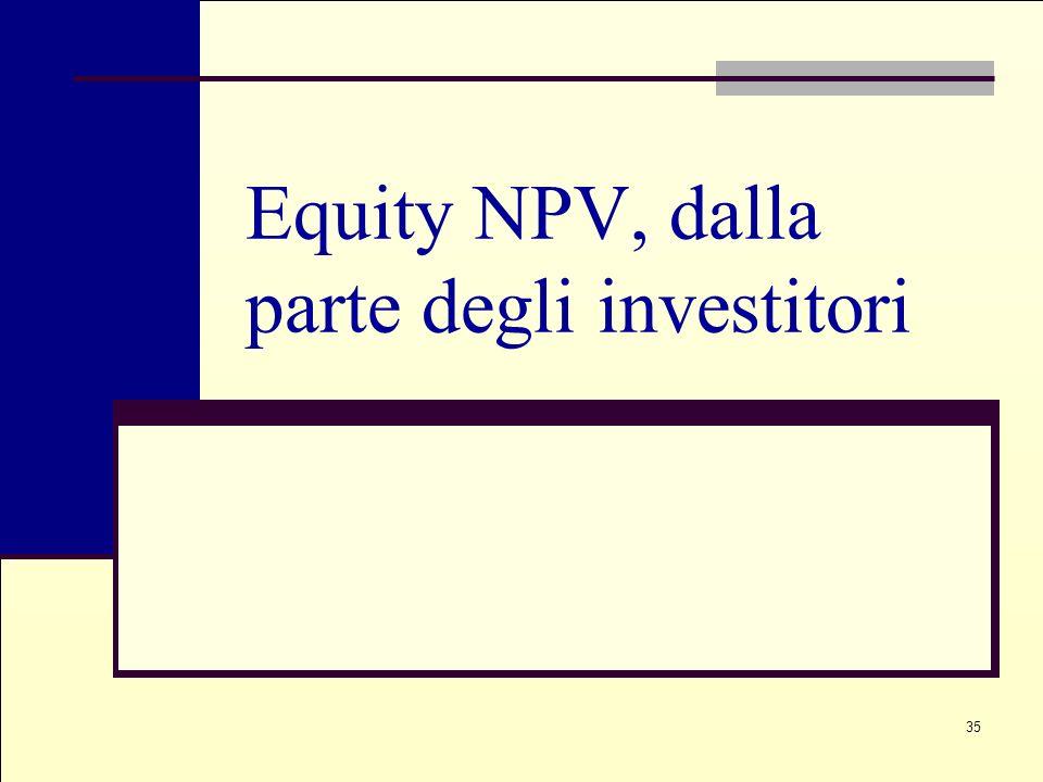 Equity NPV, dalla parte degli investitori