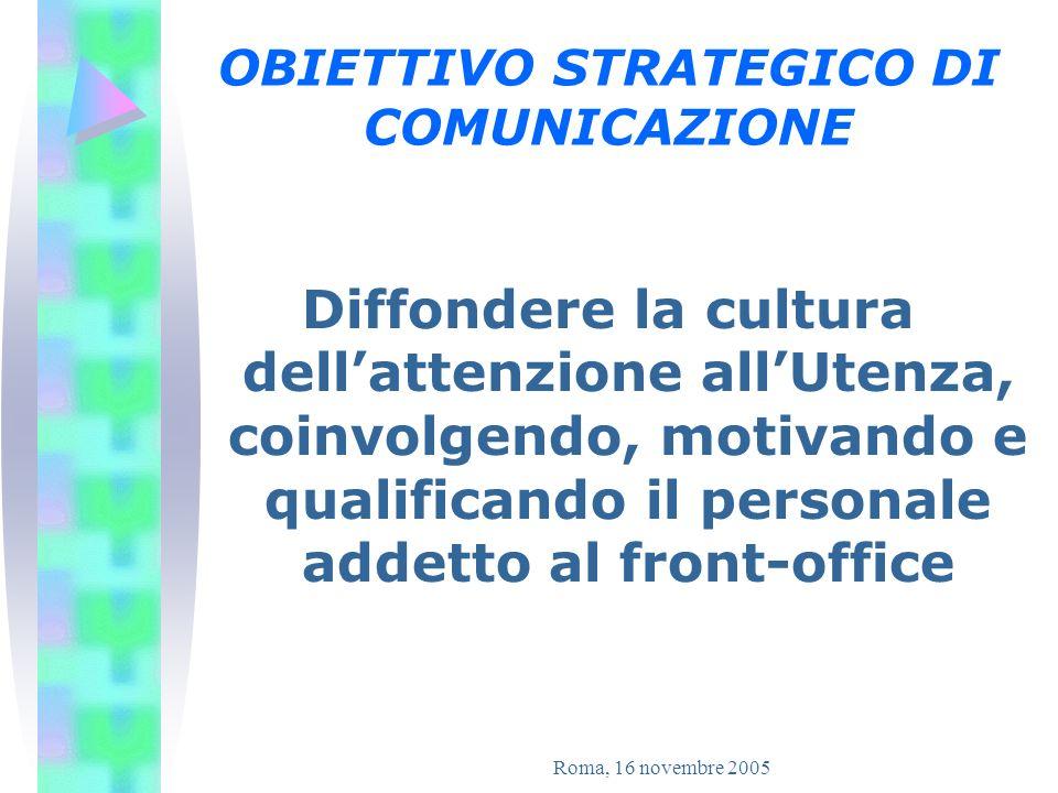 OBIETTIVO STRATEGICO DI COMUNICAZIONE