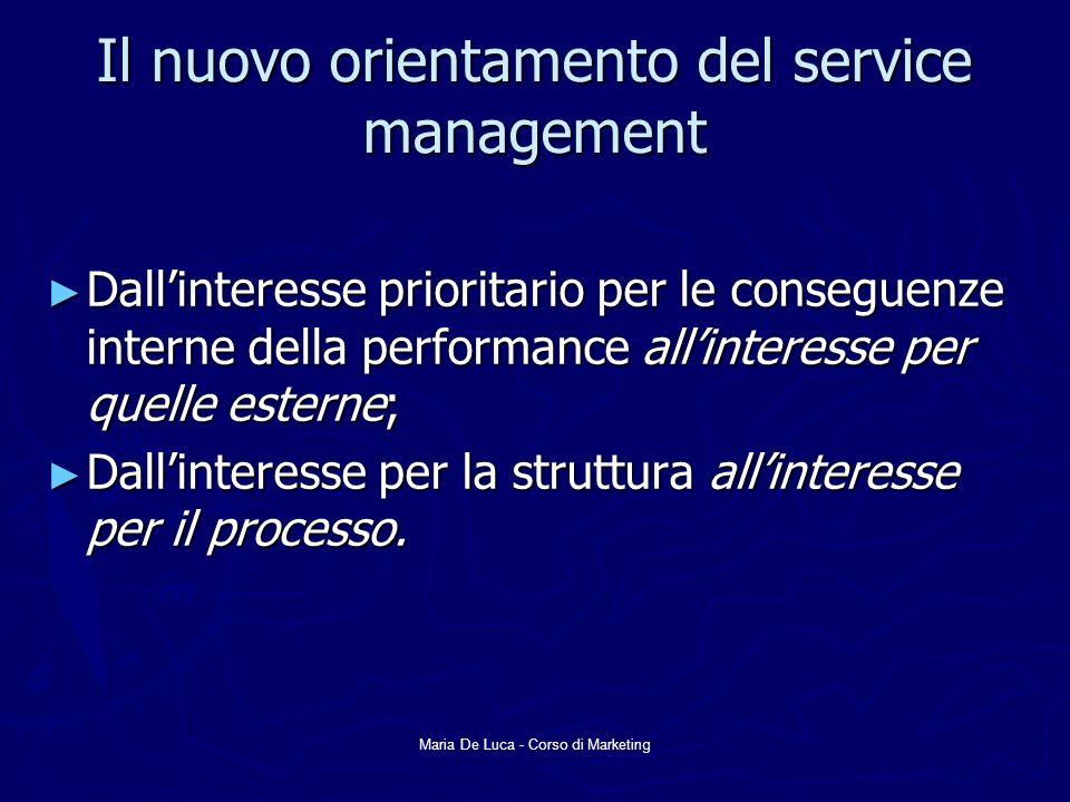 Il nuovo orientamento del service management