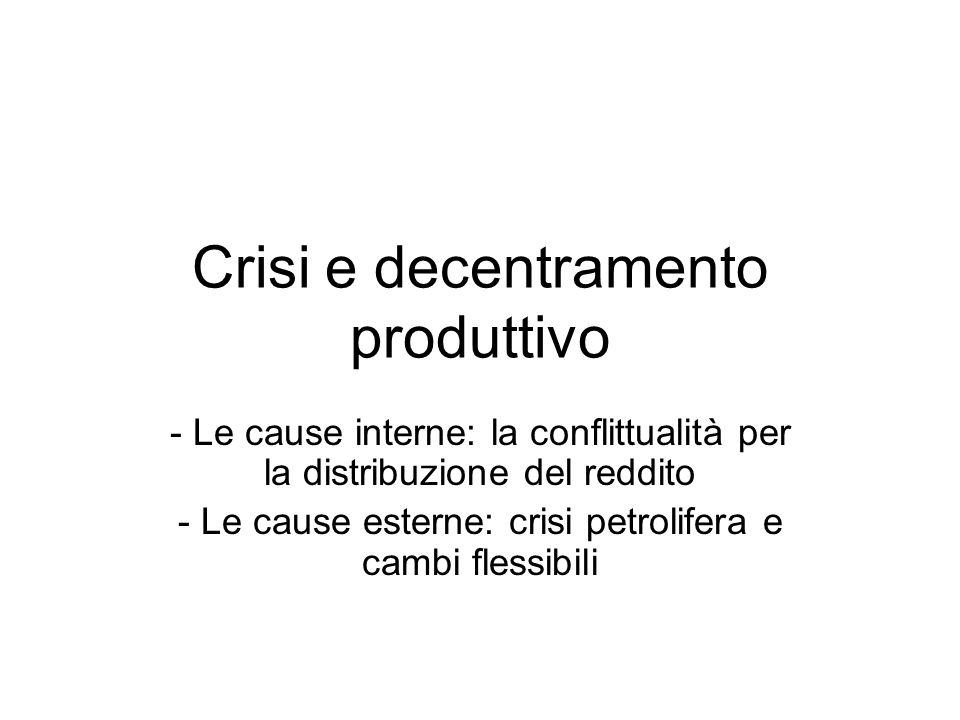 Crisi e decentramento produttivo