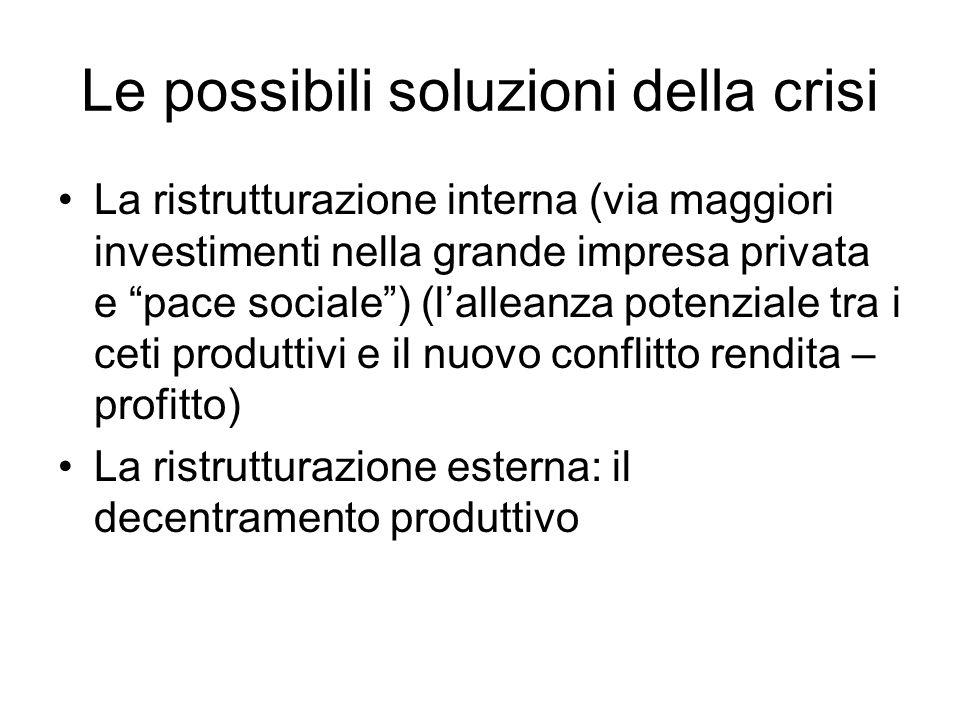 Le possibili soluzioni della crisi