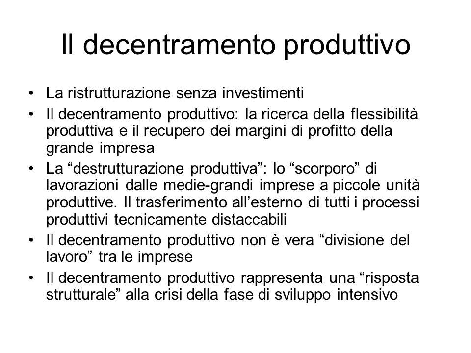 Il decentramento produttivo